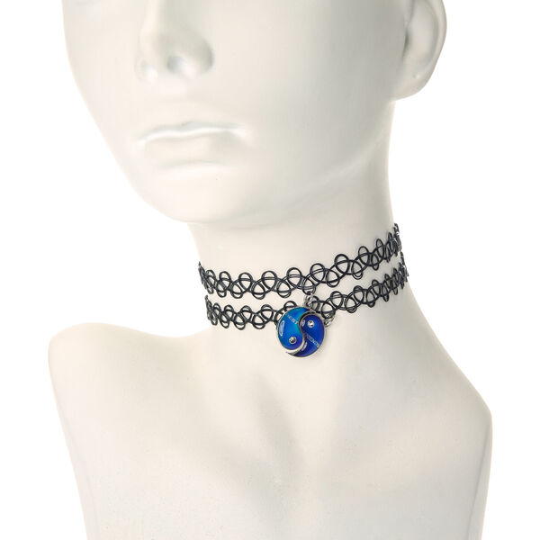 Claire's - 2 pack best friends mood stone tattoo chokers - 1