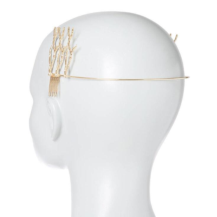 Gold Twigs Backwards Headband,