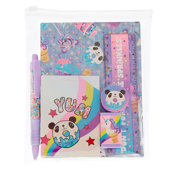 Claire's - sweet panda stationery set - 1