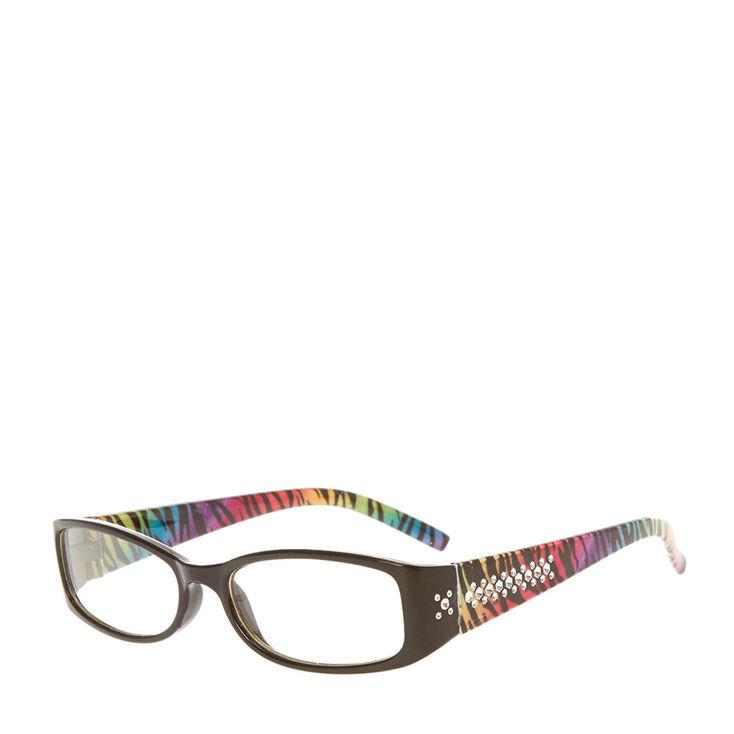 Kids Black and Rainbow Zebra Print Frames | Claire\'s US