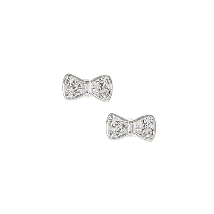 a38640454 Mini Sterling Silver Bow Stud Earrings | Claire's