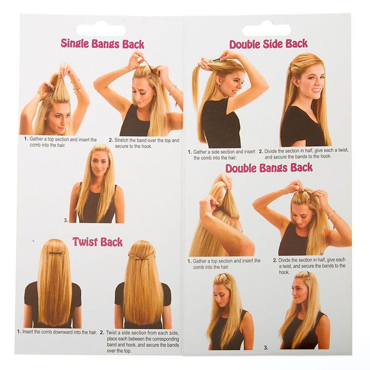 Peignes à cheveux Bandables LocALoc® - Transparent, Lot de 2,
