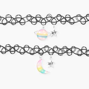 Best Friends Celestial Glow in the Dark Choker Necklaces - 2 Pack,