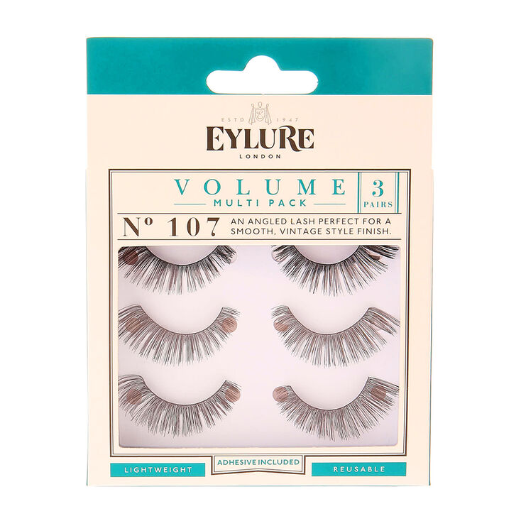c754924aed6 Eylure Volume No. 107 False Lashes - 3 Pack | Claire's