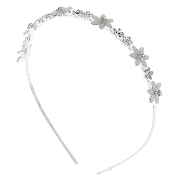 Claire's - frosted flower headband - 1