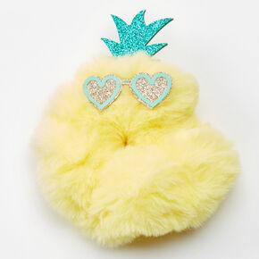 Medium Faux Fur Pineapple Face Hair Scrunchie,