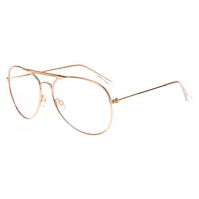baebd953da Rose Gold Metal Aviator Glasses