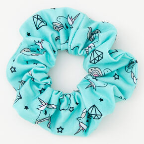 Medium Unicorn Magic Hair Scrunchie - Mint,