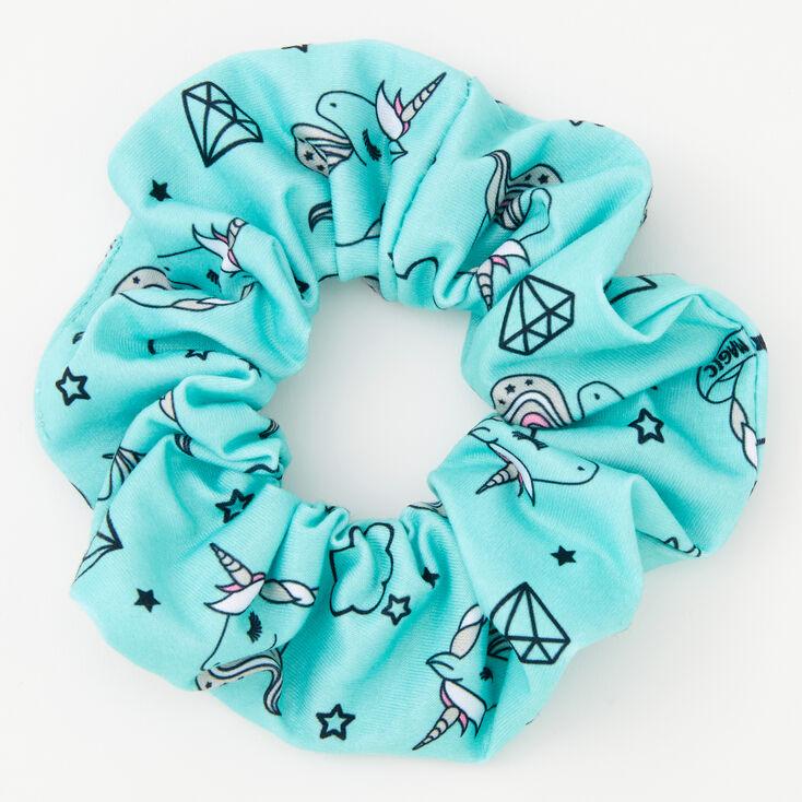 Medium Unicorn Magic Hair Scrunchie - Mint,