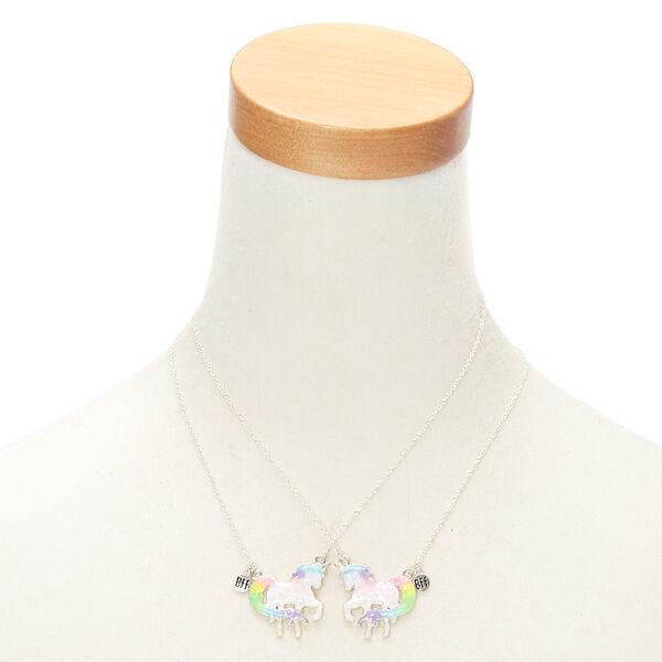 Claire's - best friends holographic majestic unicorn pendant necklaces - 2