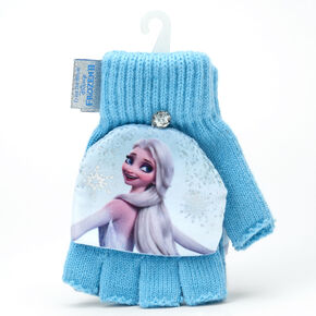 ©Disney Frozen 2 Fingerless Gloves With Mitten Flap – Blue,