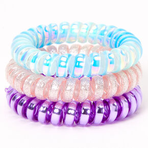 Claire's Club Bunny Box Spiral Hair Bobbles - 3 Pack,