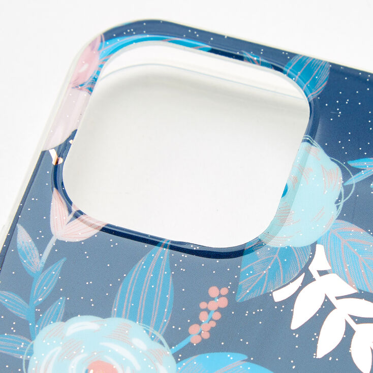 Blue Floral Protective Phone Case - Fits iPhone® 12/12 Pro,