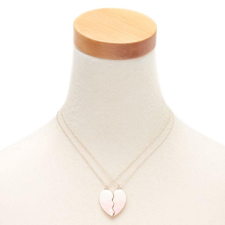 Best Friends Heart Confetti Pendant Necklaces - Pink, 2 Pack,