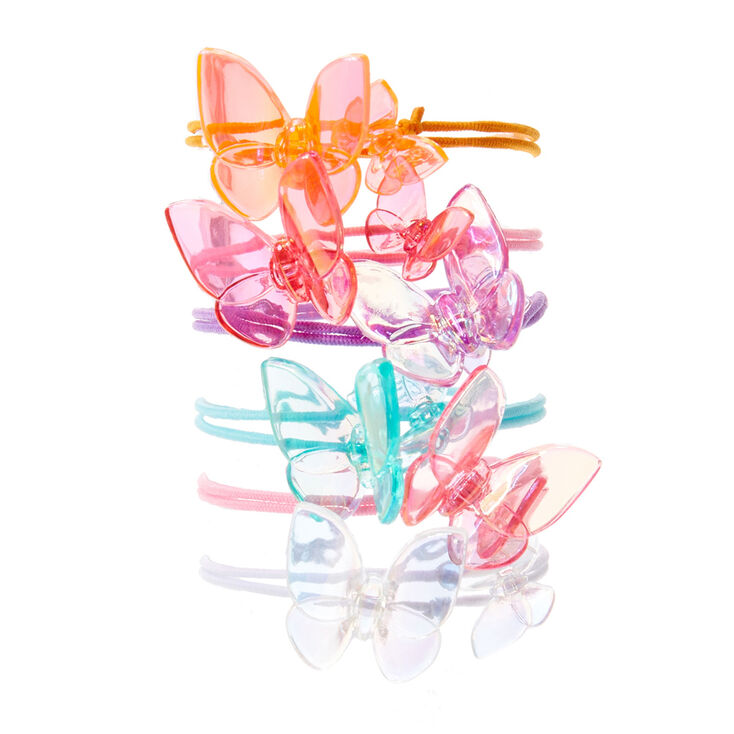 Kids 6 Pack Pretty Pastel Butterfly Hair Ties  286a74904ac