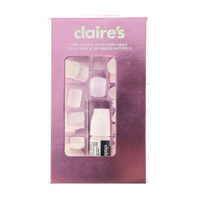 Square Faux Nail Set - 100 Pack,