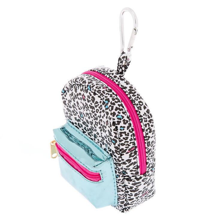 Leopard Love Mini Backpack Keychain,