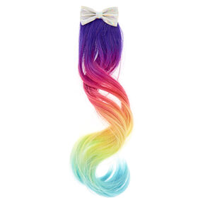 Claire's Club Rainbow Ombre Faux Hair Clip,