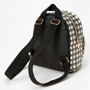 Gingham Mini Backpack - Black & White,