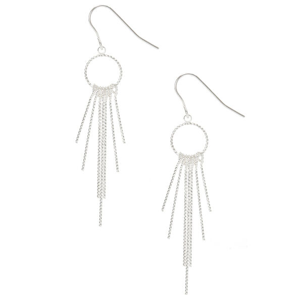 Claire's - open circle bar fringe drop earrings - 1