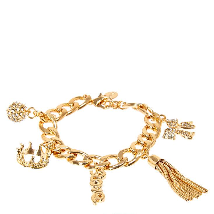 Gold Princess Charm Bracelet