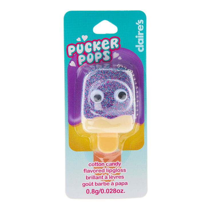 Pucker Pops Purple Glitter Lip Gloss - Cotton Candy,