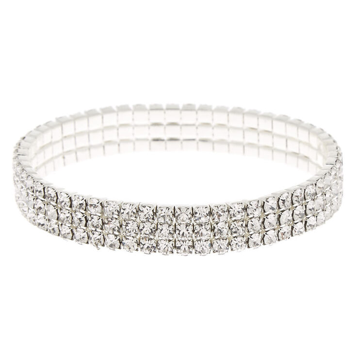 4f9836c394 Silver Rhinestone Stretch Bracelet