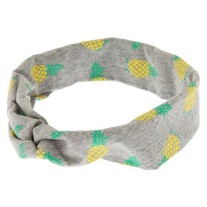 Pineapple Twisted Headwrap - Gray,