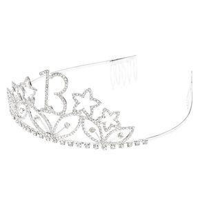 13th Birthday Embellished Tiara - Silver,
