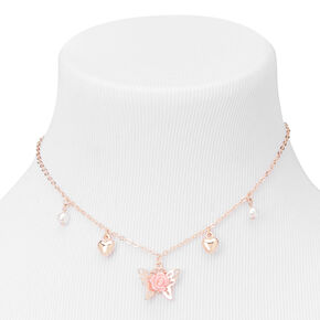 Claire's Club Rose Gold Butterfly Heart Jewelry Set - 3 Pack,