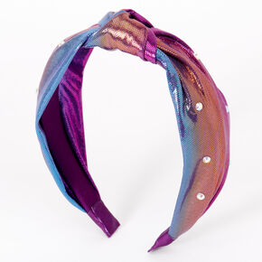Metallic Rainbow Anodized Knotted Headband,