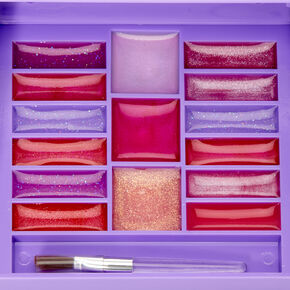 Rainbow tie Dye Bling Mechanical Bling Lip Gloss Set - Purple,