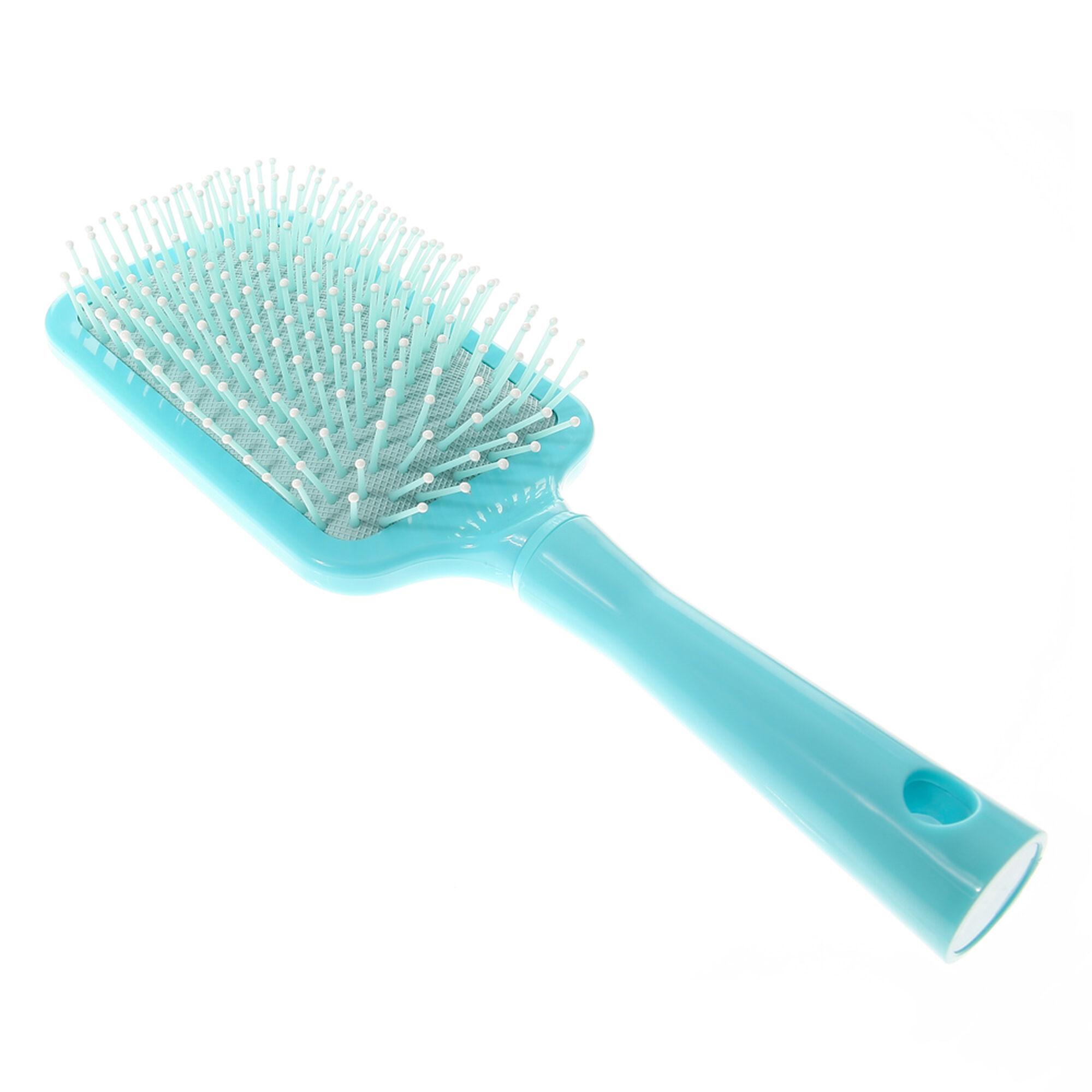 Mint Chevron Bon Voyage Hair Brush | Claire\'s US