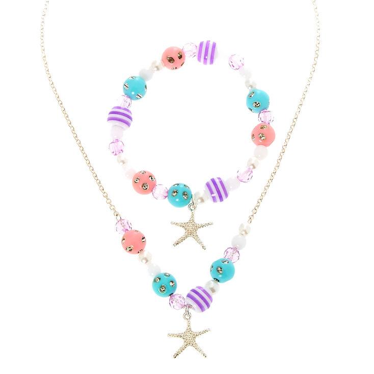 plus récent 6664a 0582f Collier et bracelet étoile de mer pour enfant