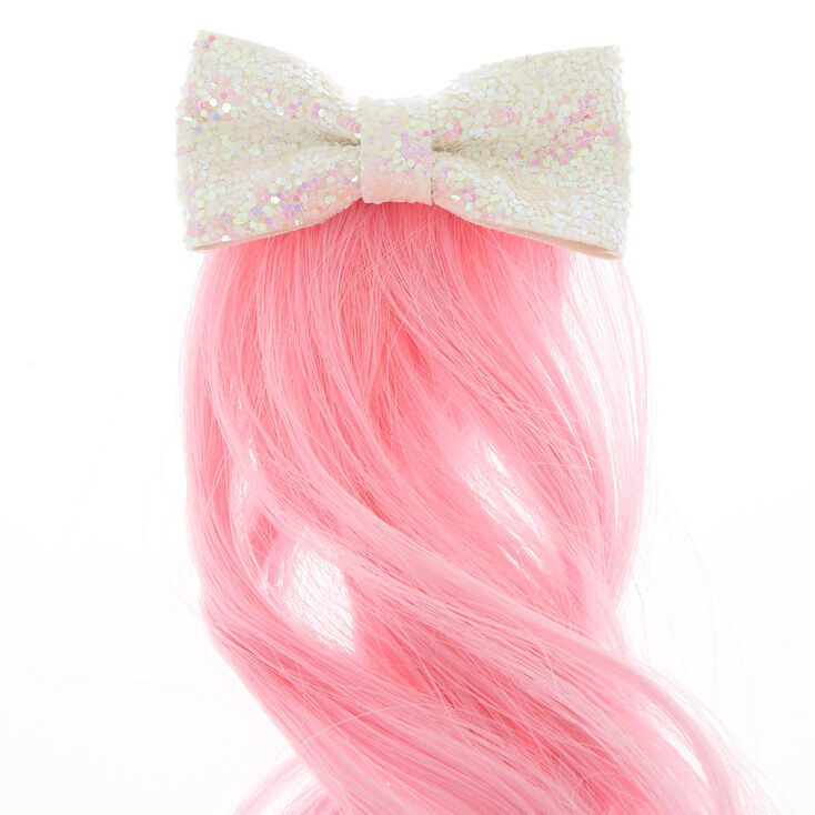 Claire's Club Unicorn Faux Hair Clip - Pink,