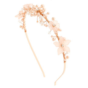 Rose Gold Frosted Flower Headband - Pink ad9fe6c6a51
