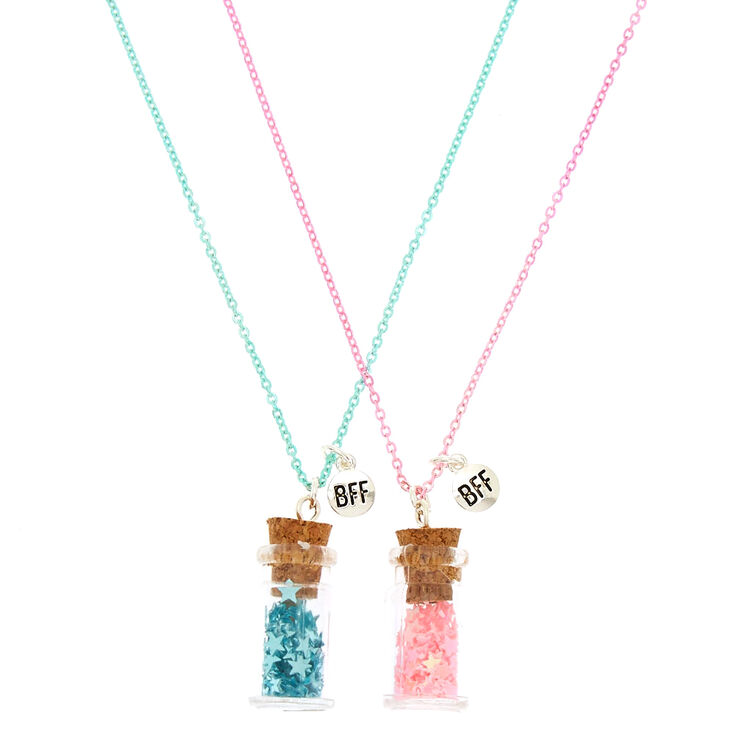 Best Friends Star Confetti Pendant Necklaces - 2 Pack,