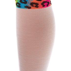 Leopard Print Stripe Knee High Socks,