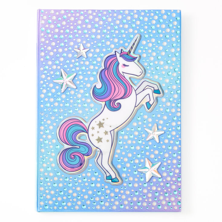 Miss Glitter the Unicorn Bling Diary - Blue,