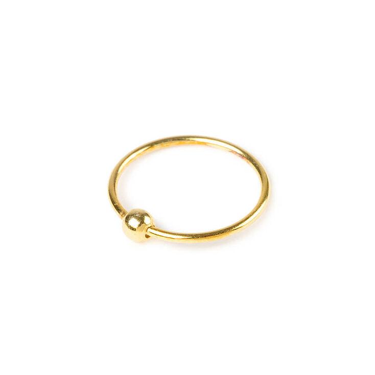 anneau pour piercing nez dor 22 g avec perles claire 39 s fr. Black Bedroom Furniture Sets. Home Design Ideas