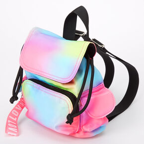 Rainbow Tie Dye Nylon Mini Backpack,