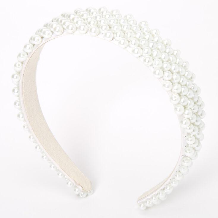 Pearl Statement Headband - White,