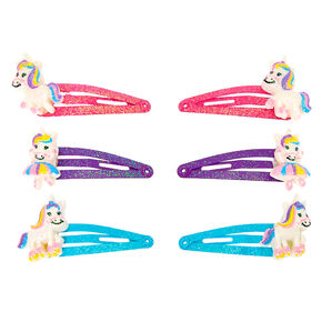 Claire's Club Dancing Unicorn Snap Hair Clips - 6 Pack,