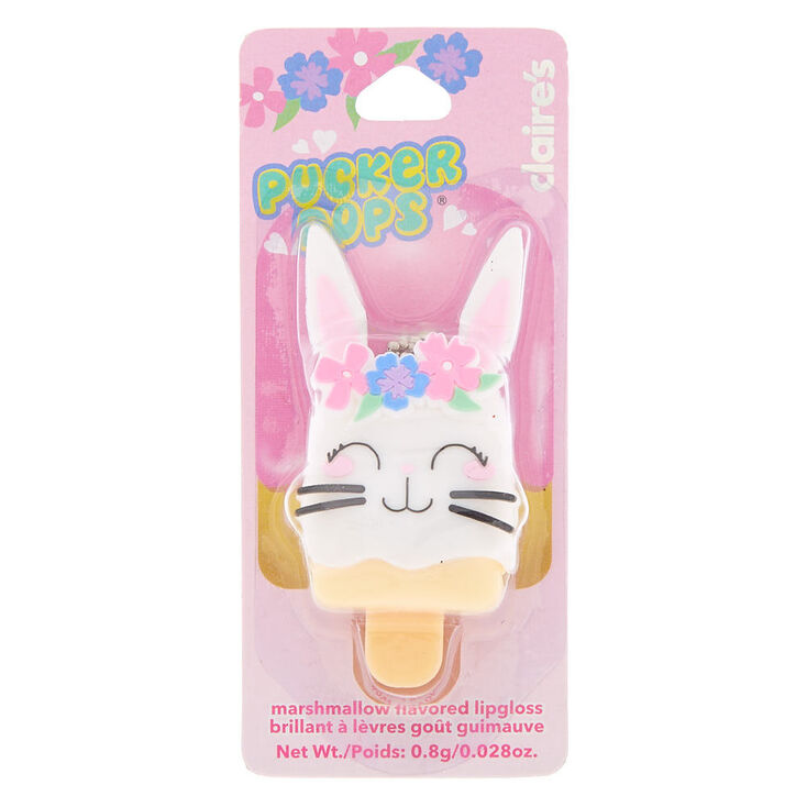 Claire's Club Pucker Pops Claire the Bunny Lip Gloss - Marshmallow,