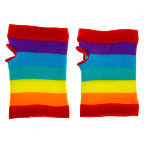 Rainbow Striped Short Arm Warmers,