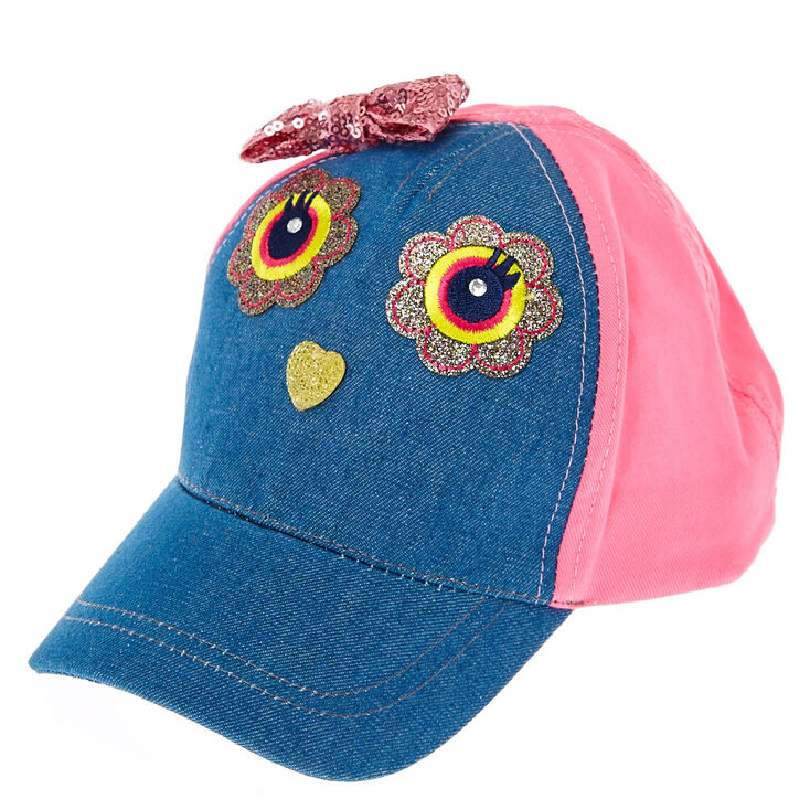 Kids Blue Jean Owl Baseball Cap  aa219f52b6c