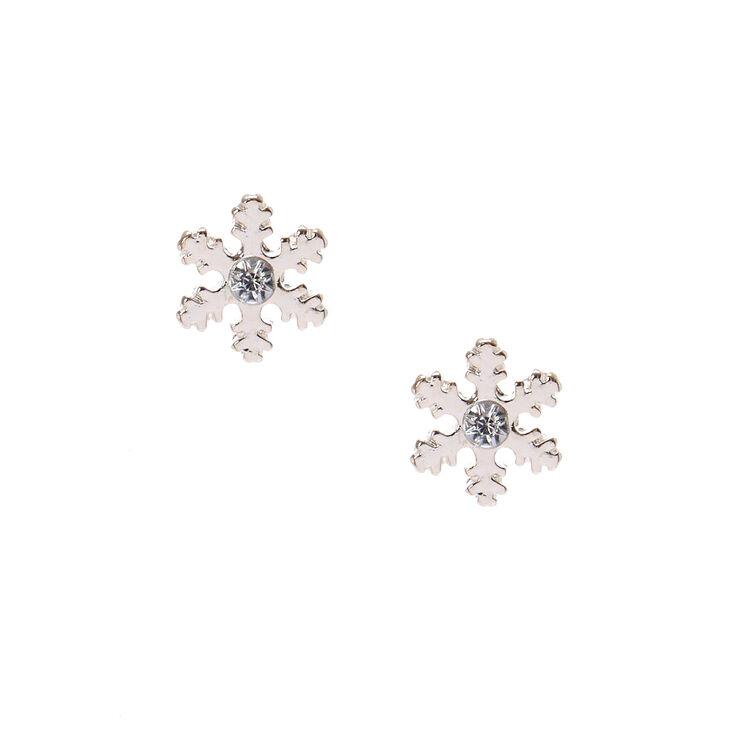 Silver Snowflake Stud Earring
