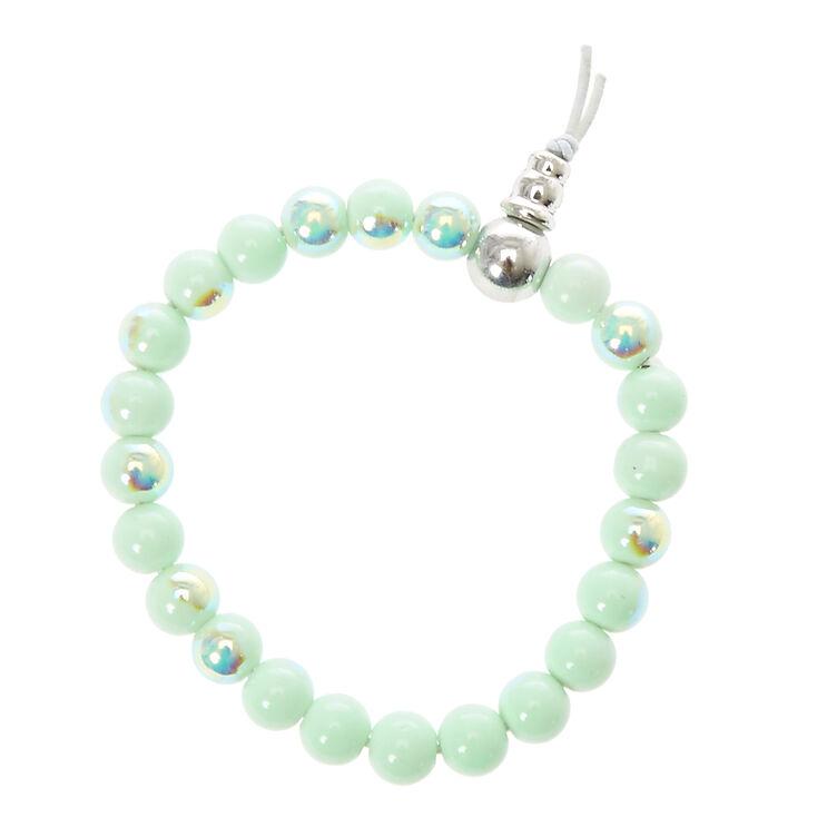 Mint Pearled Fortune Bracelet,