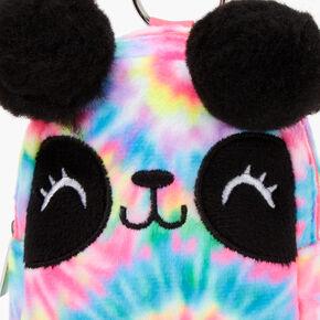 Tie-Dye Panda Mini Backpack Keychain - Rainbow,