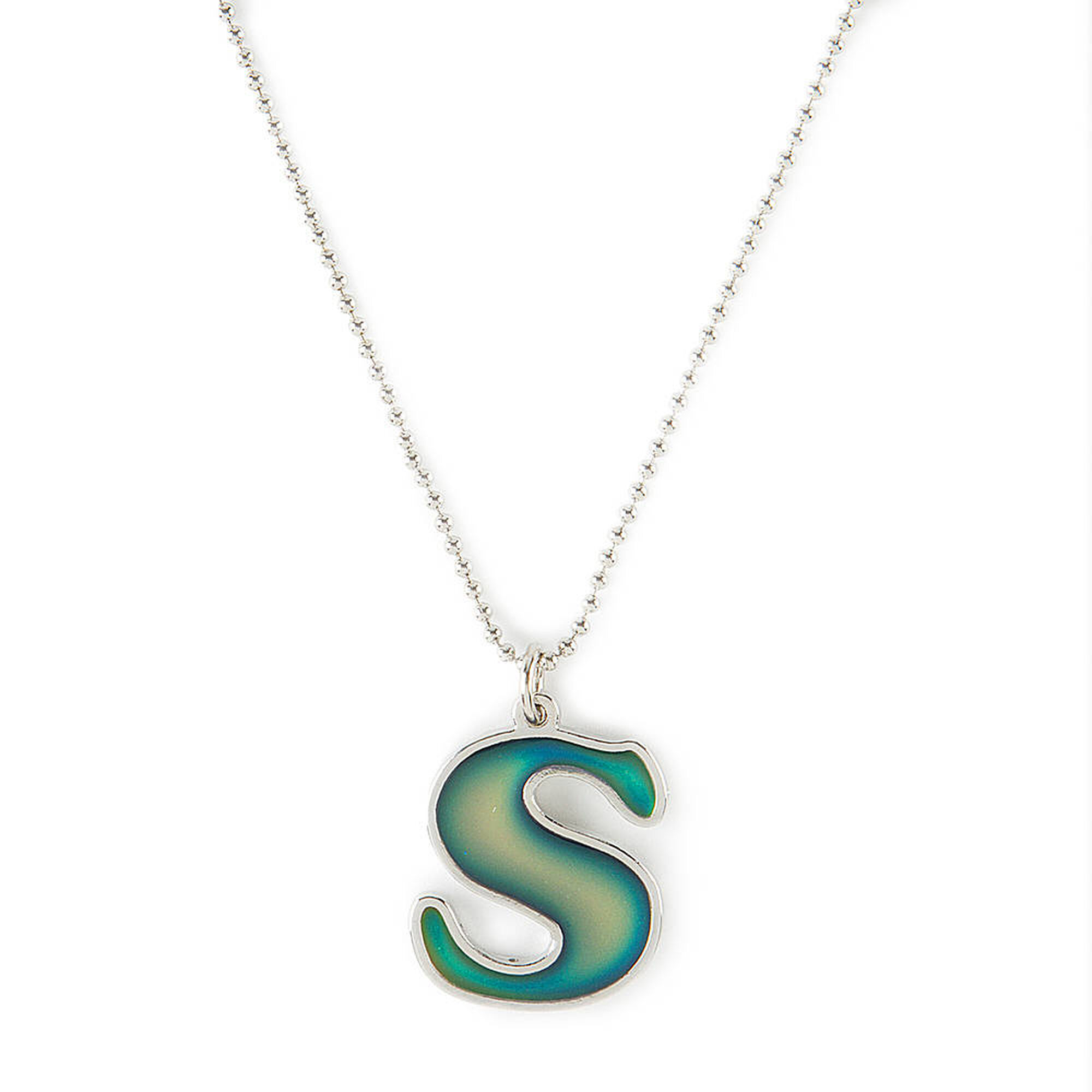Mood initial s pendant necklace claires us mood initial s pendant necklace mozeypictures Image collections